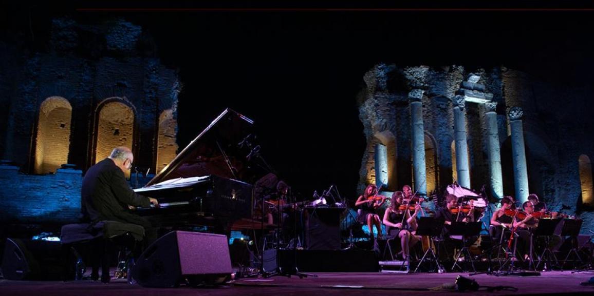 Ludovico Einaudi in concerto a Taormina